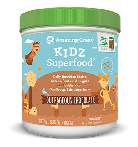 AMAZING GRASS, Superfood para Niños sabor Chocolate, 180 gr.