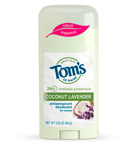 TOM'S OF MAINE, Desodorante Antitranspirante Natural, aroma Coco Lavanda, 64 gr.