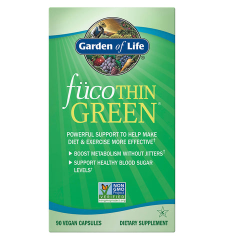 GARDEN OF LIFE, Fuco Thin Green, 90 vcaps.