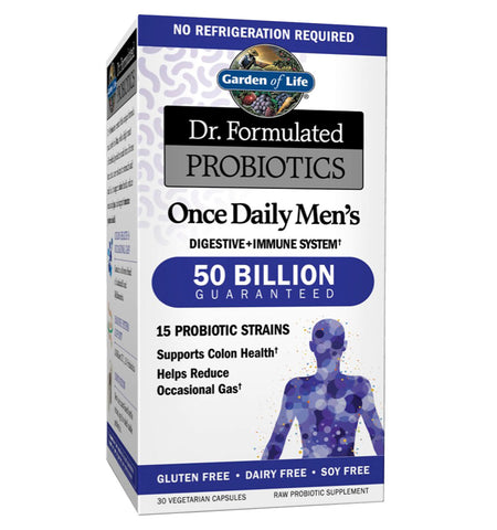 GARDEN OF LIFE, DR. FORMULATED, Probióticos para Hombres 50 billion, 30 vcaps