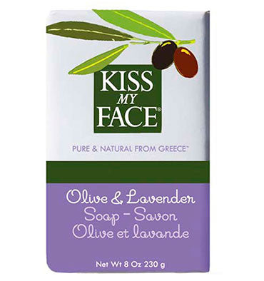 KISS MY FACE, Jabón Natural, Oliva y Lavanda, 230 gr.