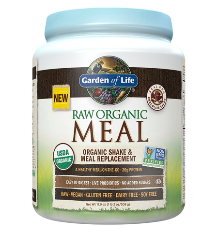 GARDEN OF LIFE, Raw Meal (Sustituto Alimenticio), Sabor Chocolate, 509 gr.