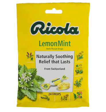 RICOLA, Ricola Herb Throat Drops Lemon Mint, 24 Drops