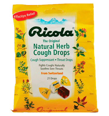 RICOLA, Ricola Herb Throat Drops Original, 21 Drops