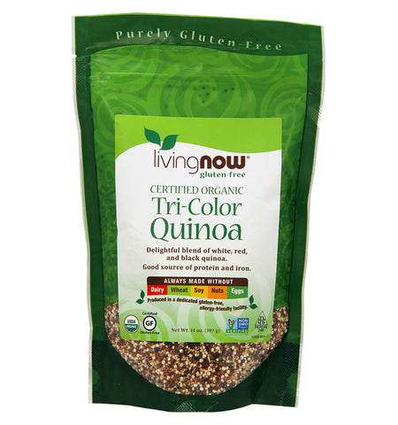 NOW FOODS, Quinoa Orgánica, Tri Color, 397 gr.