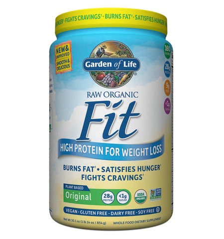 GARDEN OF LIFE, Proteína Raw Fit, Sabor Natural, 854 gr.
