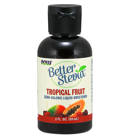 BETTER STEVIA, Stevia líquida, Cero Calorías, sabor Tropical Fruit, 60 ml.
