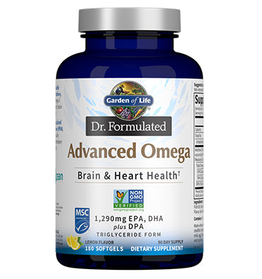 GARDEN OF LIFE, DR. FORMULATED, Advanced Omega, 180 ct.