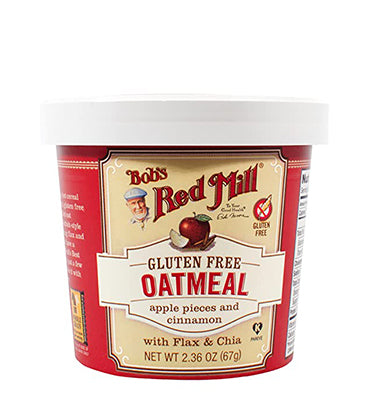 BOB'S RED MILL, Oatmeal with Flax & Chia GF Apple Pieces and Cinnamon, 1 cup