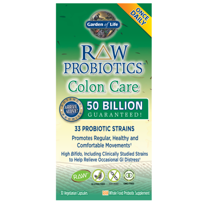GARDEN OF LIFE, Raw Probiotics Colon Care Care 50 billion, 30 caps