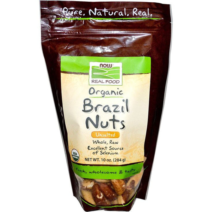 NOW FOODS, Brazil Nuts Organics Unsalted, 284 gr.