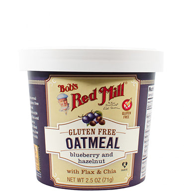 BOB'S RED MILL, Oatmeal with Flax & Chia GF Blueberry Hazelnut, 1 cup
