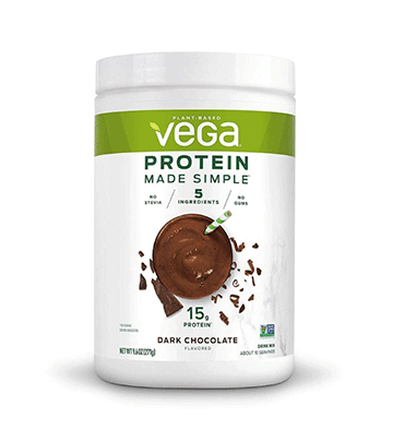 VEGA SIMPLE, Proteína sabor Chocolate, 258 gr.