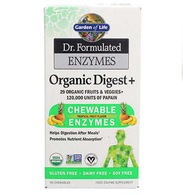 GARDEN OF LIFE, Dr. Formulated, Enzimas Masticables, 90 tabs.