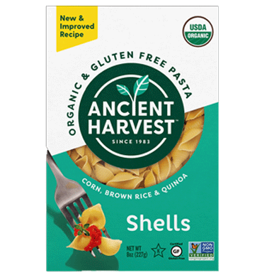 ANCIENT HARVEST, Organic and Gluten Free Pasta Shells, 226 gr.