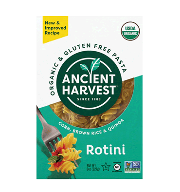 ANCIENT HARVEST, Organic Corn Brown Rice and Quinoa Rotini, 227 gr.