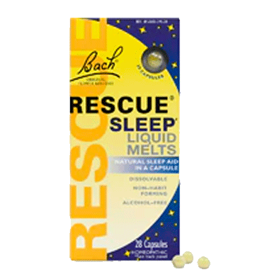 BACH RESCUE REMEDY, Liquid Melts Natural Sleep Aid, 28 Caps