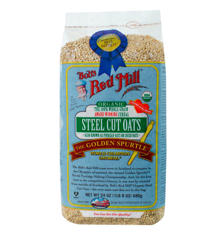 BOB'S RED MILL, Avena Cortada en Máquina (Steel Cut Oats), 680 gr.