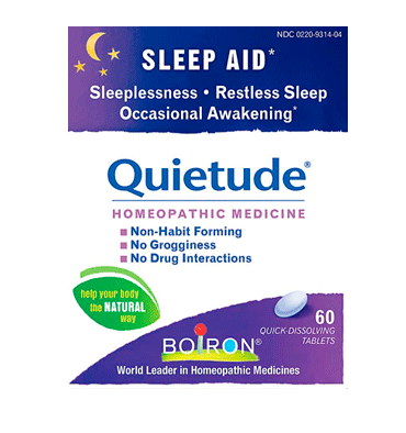 BOIRON, Quietude Sleep Aid, 60 Quick Dissolving Tablets