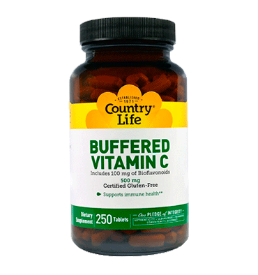 COUNTRY LIFE, Buffered Vitamin C 500 mg, 250 tabs