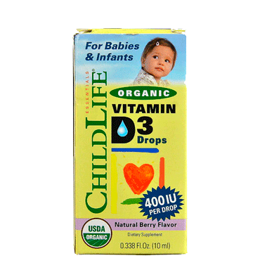 CHILD LIFE, Organic Vitamin D3 Drops Berry – 400 IU - 0.388 fl oz