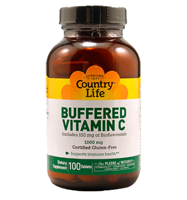 COUNTRY LIFE, Vitamina C Buffered 1000 mg, 100 tabs