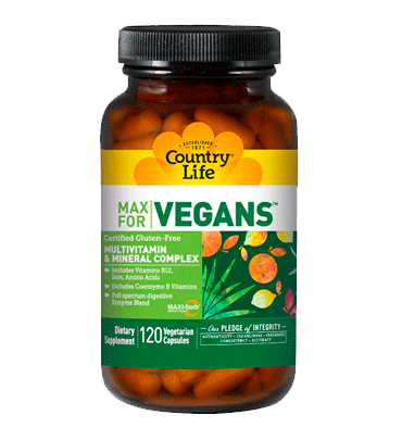 COUNTRY LIFE, MAX Vegans Multivitamínico y Multimineral, 120 Vcaps