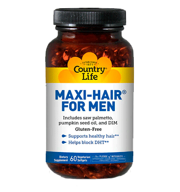 COUNTRY LIFE, Maxi-Hair for Men, 60 Softgels