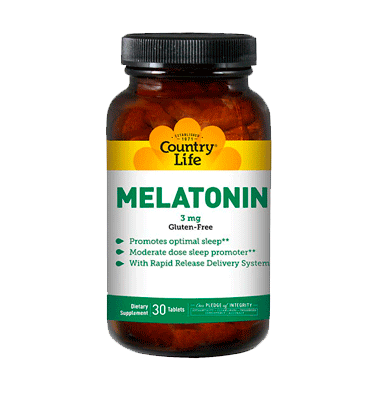 COUNTRY LIFE,  Melatonina 3 mg, 30 Tabs