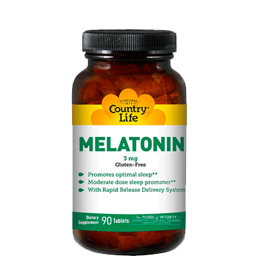 COUNTRY LIFE, Melatonina 3 mg, 90 Tabs