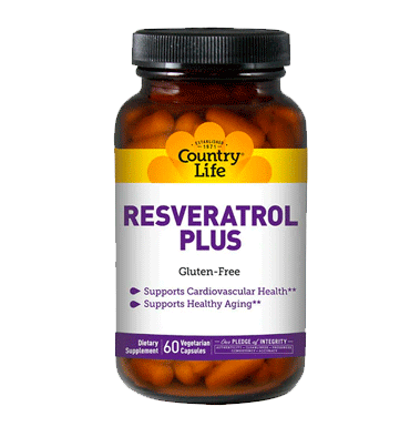 COUNTRY LIFE, Resveratrol Plus, 60 Vcaps