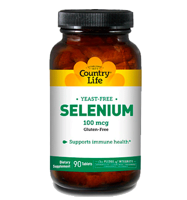 COUNTRY LIFE, Selenio Yeast Free 100 mcg, 90 tabs