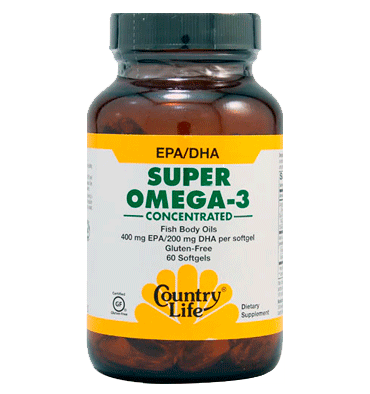 COUNTRY LIFE, Super Omega 3, 60 Softgels