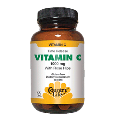 COUNTRY LIFE, Vitamina C with Rose Hips 1000 mg, 90 Tablets
