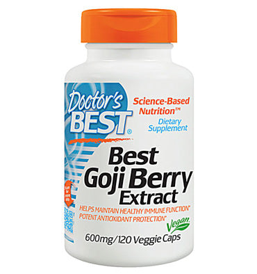 Doctors Best, Goji Berries en Polvo 600 mg., 120 vcaps.