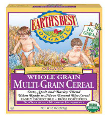 EARTH'S BEST, Organic Whole Grain Multi-Grain Cereal, 227 gr.