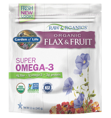 GARDEN OF LIFE, Raw Organic Flax and Fruit, 340 gr.