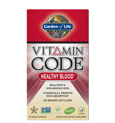 GARDEN OF LIFE, VITAMIN CODE, Healthy Blood, 60 vcaps.