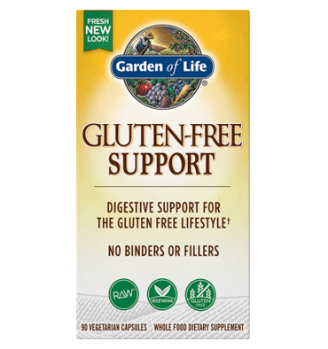 GARDEN OF LIFE, GLUTEN FREE SUPPORT, 90 vcaps.