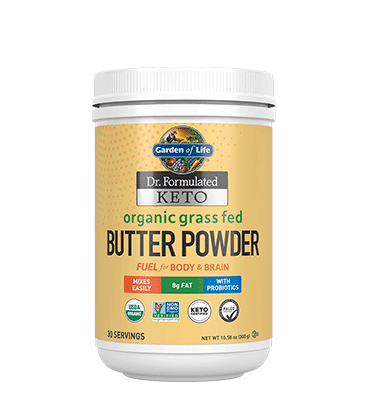 GARDEN OF LIFE, DR. FORMULATED KETO, Grass Fed Butter Powder , 300 gr.