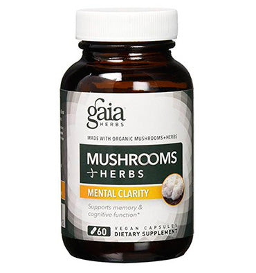 GAIA HERBS; Gaia Herbs Mushrooms + Herbs Mental Clarity Capsules, 60 caps