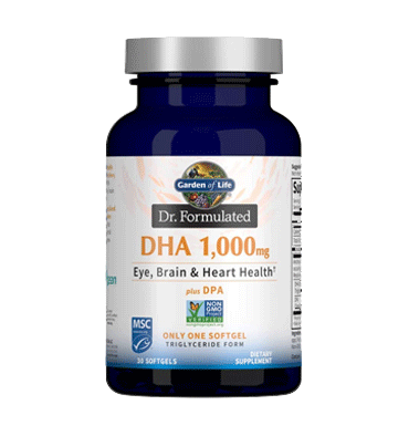 GARDEN OF LIFE, DR. FORMULATED, DHA 1000mg 30ct SOFTGELS