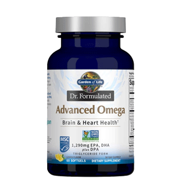 GARDEN OF LIFE, DR. FORMULATED, Advanced Omega, 60 ct.