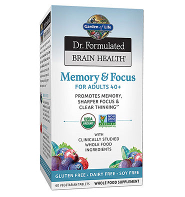 GARDEN OF LIFE, DR. FORMULATED, Memory and Focus for Adults 40+, 60 vcaps