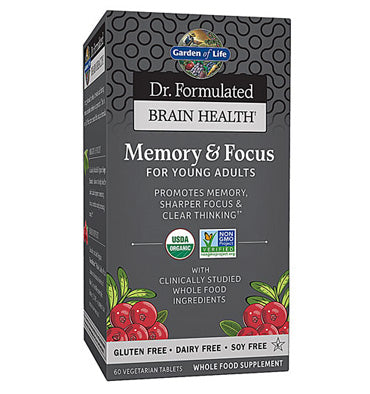GARDEN OF LIFE, DR. FORMULATED, Memory and Focus for Young Adults, 60 vcaps