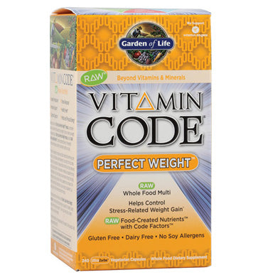 GARDEN OF LIFE, VITAMIN CODE, Multivitamínico Perfect Weight, 240 caps.
