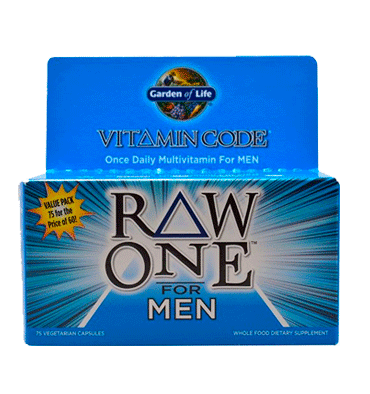 GARDEN OF LIFE, VITAMIN CODE,  RAW One Multivitamin for Men – 75 Vcaps