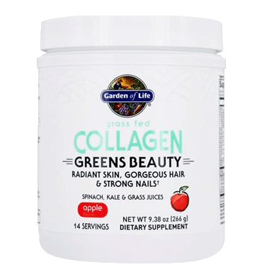 GARDEN OF LIFE, Colágeno Greens Beauty Apple 266 gr