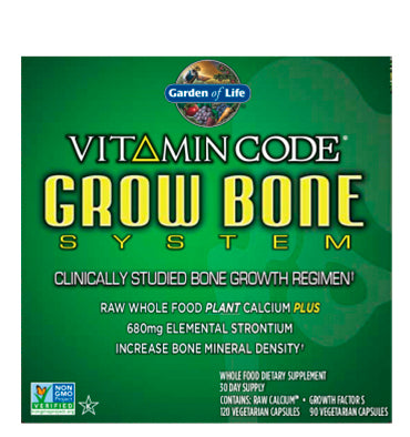 GARDEN OF LIFE, VITAMIN CODE, Grow Bone System, 90 vcaps
