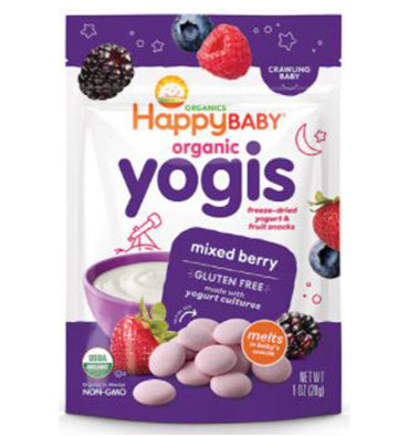 HAPPY BABY, Yummy Yogis Organic Baby Food Mixed Berry, 29 gr.